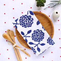 Napkins in hydrangea navy (set of 4)