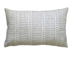 White Tribal dash linen cushion