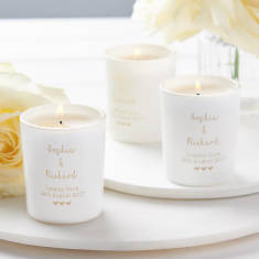 Personalised Wedding Table Favour Votives