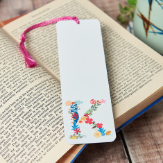 Personalised Floral Initial Bookmark