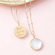 Personalised Mother of Pearl Pendant Necklace