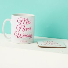 Mrs Never Wrong Mug