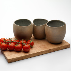 Three wheel thrown vessels & board set