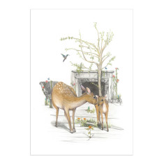Deer Mum and baby print