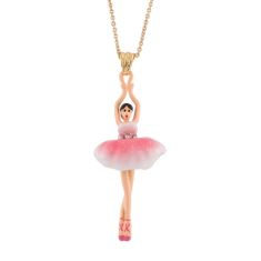 Simple Pink Ballerina  Necklace