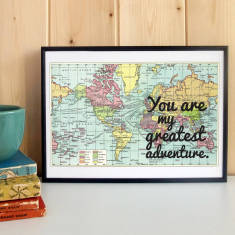 You are my greatest adventure romantic map print