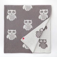 Owly organic cotton blanket
