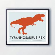 Tyrannosaurus Rex kids print