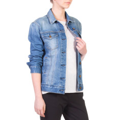 Denim patch pocket jacket