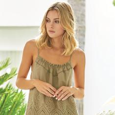 Dahli pyjama set in olive