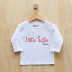 Personalised Little sister / Little Brother longsleeve t-shirt