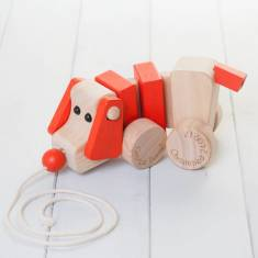 Personalised Kids' Pull Along Wooden Dog