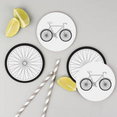 Bicycle coasters (set of 4)