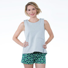 Butterfly, Fly Structured Nursing Top