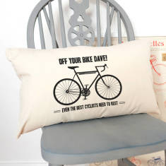 Personalised Off Your Bike Cycling Cushion