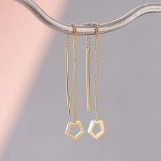 Hexagon Chain Earrings