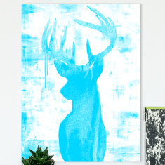 Endeering blue ready to hang canvas art