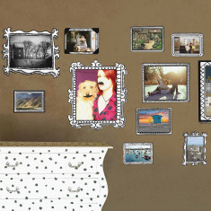 Photo frames wall stickers