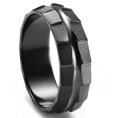 Custom Rotar Black Zirconium Custom Ring