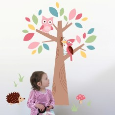 Forest friends wall decal