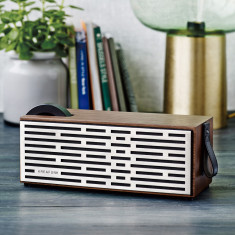 Kreafunk aPlay bluetooth speaker in white or walnut