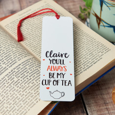 Personalised You're My Cup Of Tea Bookmark