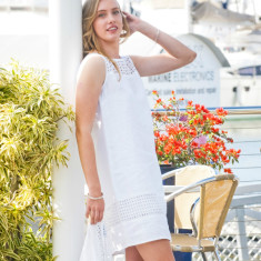 White jenny linen dress