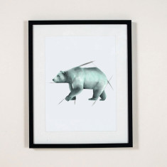 Bear illustration wall art print