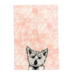 Tartan westie tea towel