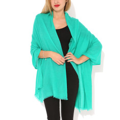 Moye cashmere stole in turquoise green
