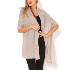 Moye cashmere stole in taupe