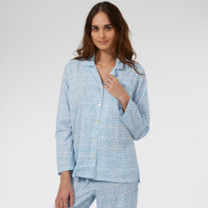 Classic Pyjamas in Blue Hexagon print