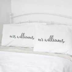Personalised Couple's Pillowcase Set
