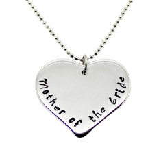 Personalised Mother of the Bride heart necklace