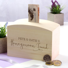 Personalised Honeymoon Fund Money Box