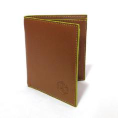 Vintage leather wallet in brown