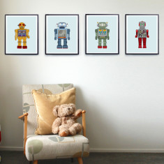 Robot nursery prints (set of 4)
