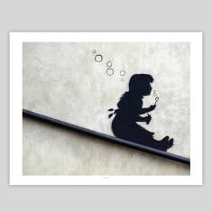 Bubble girl by Banksy art print