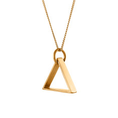 Triangle necklace in gold brass