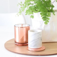 Copper candle with lid (various scents)
