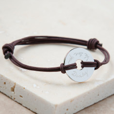 Personalised unisex open disc bracelet