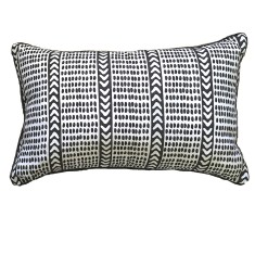 Charcoal Tribal dash linen cushion