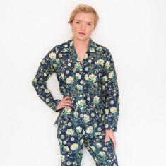 Pyjamas in French Fleurs navy print