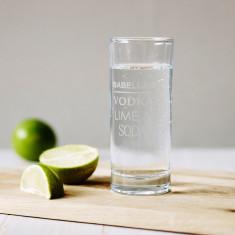 Personalised highball glass