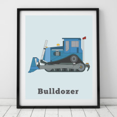 Bulldozer print (various colours)
