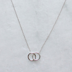 Beatrix infinity necklace in silver or gold