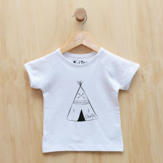 Boys' personalised teepee t-shirt
