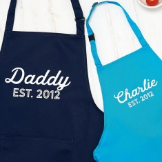 Personalised Daddy And Child Apron Set