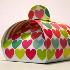 Small gift boxes in hearts (pack of 3)