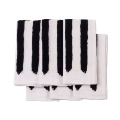 Black & white stripe linen napkins (set of 6)